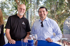 Bob Schultz (SDSU), Ben Moraga (Sharp Healthcare Foundation)