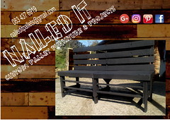 39 Bench (Nailed-It Pallet Furniture) Tags: naileditpalletfurniture outdoorfurniture palletfurnituredurban palletwoodfurniture barfurniture gardenbench custompalletfurniture