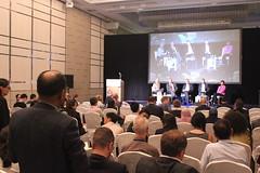 Ravi Agarwal asking the podium