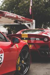 Came for the Show (Beyond Speed) Tags: ferrari f12 tdf 458 speciale a specialea supercar supercars cars car carspotting nikon v12 v8 red stripes limited detail combo maranello italy italia ferrari70