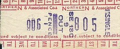 Northern & Associated Co.s Bus Ticket (Ray's Photo Collection) Tags: scan scanned document bus buses travel ticket northern