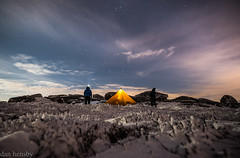 Star gazing (danjh75) Tags: ngc kinder scout peakdistrict longexposure stars snow frost tents mountainhardwear camping nightphotography