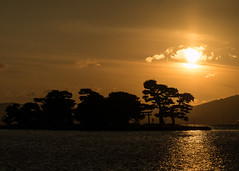 Shinji Sunset (H.H. Mahal Alysheba) Tags: sunset lake water landscape japan lumix gx7 mzuiko 40150mmf28