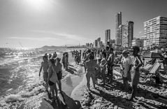 Benidorm Beach Life. (CWhatPhotos) Tags: cwhatphotos black white bw mono olympus four thirds 43 omd em10 ii digital camera photographs photograph pics pictures pic picture image images foto fotos photography artistic that have which with contain artistc benidorm beach seaside resort spain costa blanca spanish fun hol holiday september 2017