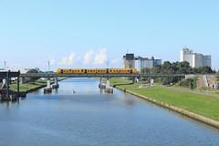 NSR 3447 @ Zwolle Katwolde (Sicco Dierdorp) Tags: ns nsr reizigers dm90 kamperlijntje brug kanaal zwolle katwolde kampen