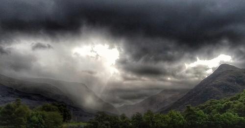 Dark clouds & Sun rays.
