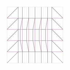 Fan-shaped Box Crease Pattern (oschene) Tags: origami creasepattern box fanshaped