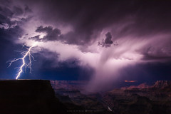 Illuminate (Mike Olbinski Photography) Tags: 20170913 arizona canon1124mmf4 canon5dsr clouds coloradoriver grandcanyon lightning lipanoverlook monsoon positivecg rain storms thunderstorms transitionevent