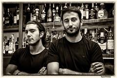 Bartenders (WayneToTheMax) Tags: ronda spain bar bartender men black white attitude portrait people nikon d750 natural environmental shockofthenew