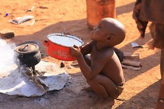 Himba Child Himba Village Kamanjab Damaraland Namibia South West Africa
