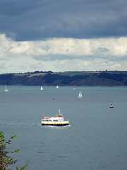 Pleasure Boat (Cornishcarolin. Thank you for over 2 Million Views) Tags: cornwall riverfal light clouds sky water pleasureboatprincessa boats yachts seascape