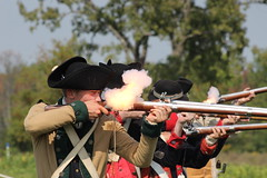 Fire (historygradguy (jobhunting)) Tags: stillwater saratoganationalhistoricalpark ny newyork upstate livinghistory reenactment reenactors historicalreenactment people person gun guns weapons muskets shooting