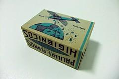 CAJA PALILLOS PLANOS FINOS HIGIÉNICOS (RMJ68) Tags: antigua caja palillos planos finos higienicos mondadientes fabricacion nacional avion