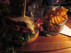 Burger at Islenski Barinn (pr0digie) Tags: reykjavik iceland burger cheeseburger bacon waffle fries frenchfries hamburger food dinner islenskibarinn restaurant