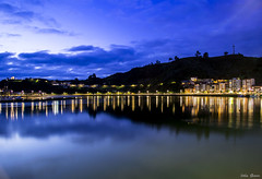 Blue hour on the harbor (Jotha Garcia) Tags: sky sunset water clouds river ribadesella asturias españa bluehourontheharbor harbor bluehour puerto spain septiembre verano summer 2017 jothagarcia nikond3200 nikkor180550mmf3556 nocturna night reflejos reflexes bridge september longexposure