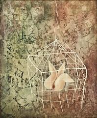 Sade's flower (1950) - Marcelino Vespeira (1925-2002) (pedrosimoes7) Tags: marcelinovespeira centrodeartemanueldebrito camb paláciodosanjos algés portugal surrealism surrealist artgalleryandmuseums ✩ecoledesbeauxarts✩