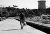 man with a bag (pepe amestoy) Tags: blackandwhite streetphotography people elcampello spain fujifilm xe1 carl zeiss planar 250 zm t m mount planart250