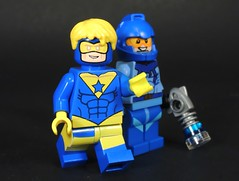Golden Blue Duo (MrKjito) Tags: lego minfig super hero comic comics booster gold blue beetle duo time traveler custom minifig madness