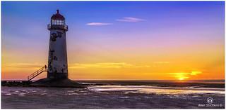Sundown at Talacre Beach