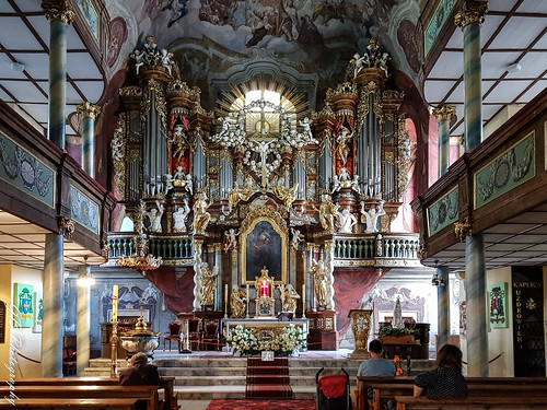Jelenia Góra, interior of the Church of the Holly Cross