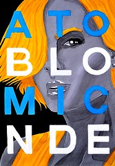 Atomic Blonde (Marcos D. Torres) Tags: indoor painting mural paint pintura pintor art artist draw drawing desenho design pen pencil marker spray spraycan paper doodle rabisco rascunho exercise sketch sketchbook caderno outdoor black white yellow orange purple blue red green colorfull pb bw wood glass metal face portrait type letter typography profile hand skull animal faces neon lights videogames skulls skeletons blonde woman fish dead hip hop rap wu tang grandpa grandma