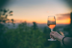 Cheers! (Tracey Rennie) Tags: wine home cheers friends tgif rosé laura evening sunset cochrane