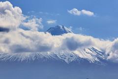 Mount Taranaki (shonainnewzealand) Tags: mounttaranaki clouds snow canon60d canon mountain newzealand taranaki
