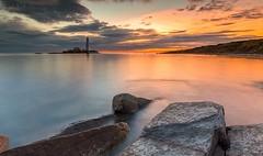 Mooching with Mary (Pureo) Tags: stmarys island sunrise rocks northeast northsea northeastengland seascape serene colours whitleybay canon canon6d leefilters le longexposure