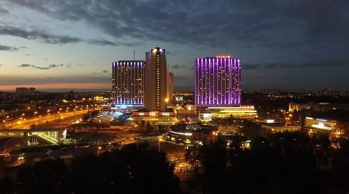 Izmailovo hotel complex drone
