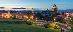 Heure bleue sur Québec / Quebec City at blue hour (Pierre Lemieux) Tags: villedequébec québec canada ca heurebleue bluehour vieuxquébec oldquebec châteaufrontenac pierreduguademons terrasse