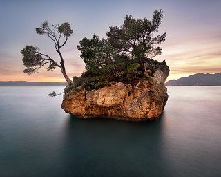 The Famous Brela Rock in the Evening, Brela, Croatia