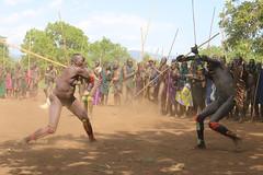 Attack (martien van asseldonk) Tags: ethiopia martienvanasseldonk donga surma stickfighting