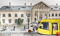 La France des Sous-Préfectures 51 (chando*) Tags: aquarelle watercolor croquis sketch france