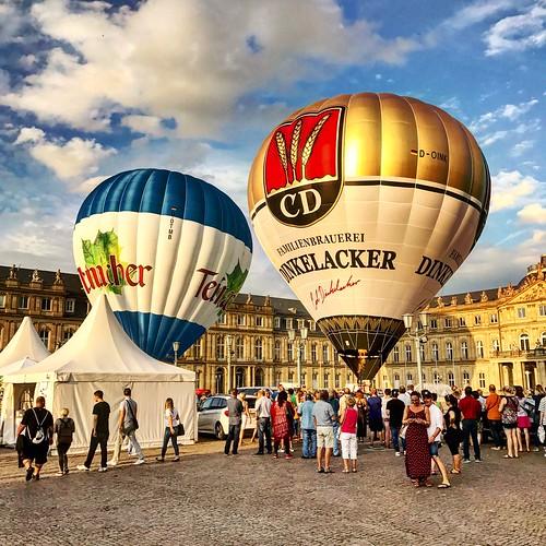 Stuttgart Sommerfest Hot Air Balloons Dinkelacker Brauerei 03.08.17