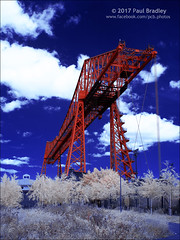 The Tees Transporter (ScudMonkey) Tags: teestransporterbridge c2017paulbradley middlesbrough infrared 720nm falsecolour history heritage ironopolis converted canon 30d efs1022mmf35
