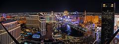 Panoramic View Las Vegas Strip (randyandy101) Tags: lasvegas strip cosmopolitan hotel paris trump tower downtown cityscape city nevada lights bellagio night nightscape colorful colors