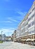 Fachada Coruñesa (Santos M. R.) Tags: cielo coruña azul sky nubes clouds balcones cristaleras blanco terrazas riazor hdr