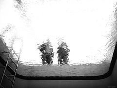 view from the bottom of a piscine (René Mollet) Tags: piscine bottom underground underwater different view street streetphotography silhouette streetart denhaag vonnlinden blackandwhite monochrom monochromphotographie renémollet art