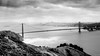 San Francisco (photozweiundachzig) Tags: 2013 art goldengate jahr ort sanfrancisco schwarzweis usa blackandwhite bridge red city bay cali california west westcoast route1 ocean pacific alcatraz prison clouds sun