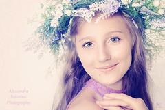 Весенняя нежность (MissSmile) Tags: misssmile child kid girl teenager 13 smile delicate soft portrait memories flowers studio