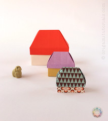 Origami House Box (Judith Magen) Tags: origami box house