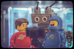 All's well what ends well (Priovit70) Tags: lego minifigures benny mrrobot selfie anewhip macro olympuspenepl7