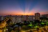 Sunrays at Hougang [Explored] (BP Chua) Tags: sunset sunray rays hougang singapore asia fujifilm xt1 wideangle landscape epic lights orange buildings hdb residential platinumheartaward