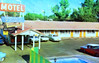 Travel Haven, Hanford, California (Thomas Hawk) Tags: america california hanford travelhaven usa unitedstates unitedstatesofamerica vintage motel neon pool postcard swimingpool fav10