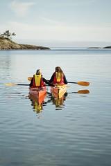 Kayking (johanne_saxe) Tags: norway sea shore kayak water lake summer