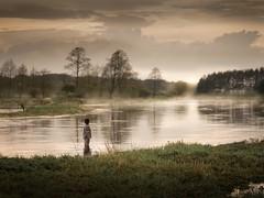 Salvation (iwona_podlasinska) Tags: water child sky river sunset moody mood mist