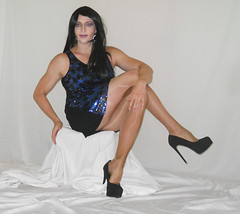 Legs (queen.catch) Tags: catchqueenyoutube tranny shemale pantyhose platino cleancut heels dress sissy ladyboy legsfordays glitter makeup femboy femme