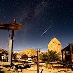 Perseid Meteor Over Coyote's Rattlesnake Saloon thumbnail
