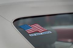 God Bless America (pattyg24) Tags: americanflag car godblessamerica riverfest watertown wisconsin automobile carshow sticker summer vinyltop