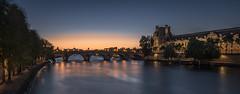 Louvre at dusk (Sizun Eye) Tags: seineriver seine louvre pontroyal quai river dusk twilight paris france europe panoramic reflections sizuneye nikkor1424mmf28 nikond750 nikon1424mmf28 nikon d750 nikkor 1424mm 2017 le longexposure poselongue